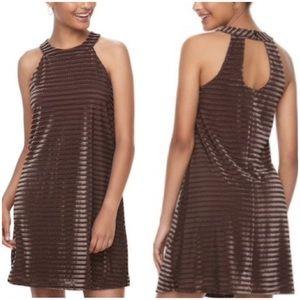 Velvet Chevron Vintage Styled Dress